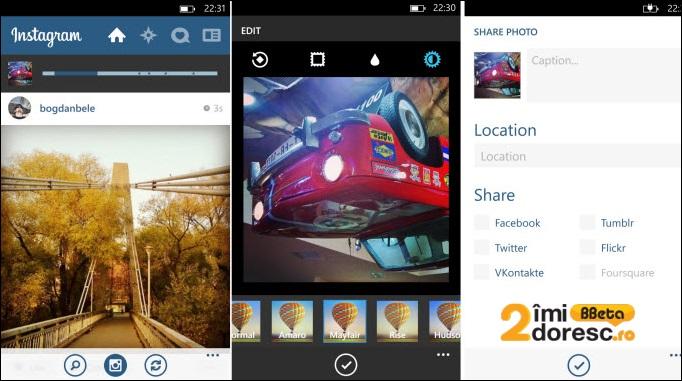 Instagram pe Windows Phone