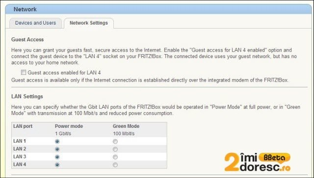 FRITZBox 7490 home network