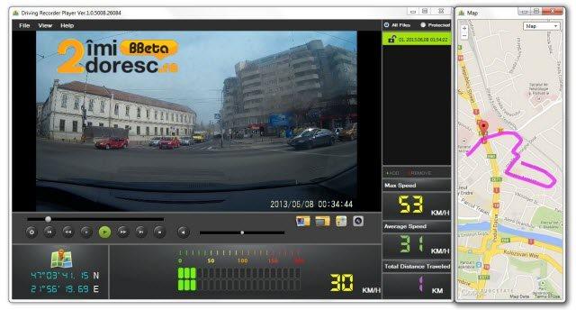 GoClever DVR Titanium GPS software