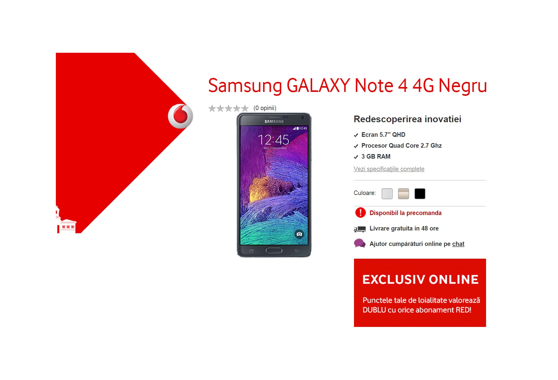 Samsung Galaxy Note 4 Vodafone