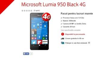 Microsoft Lumia 950 si Lumia 950XL – Precomanda la Vodafone Romania.