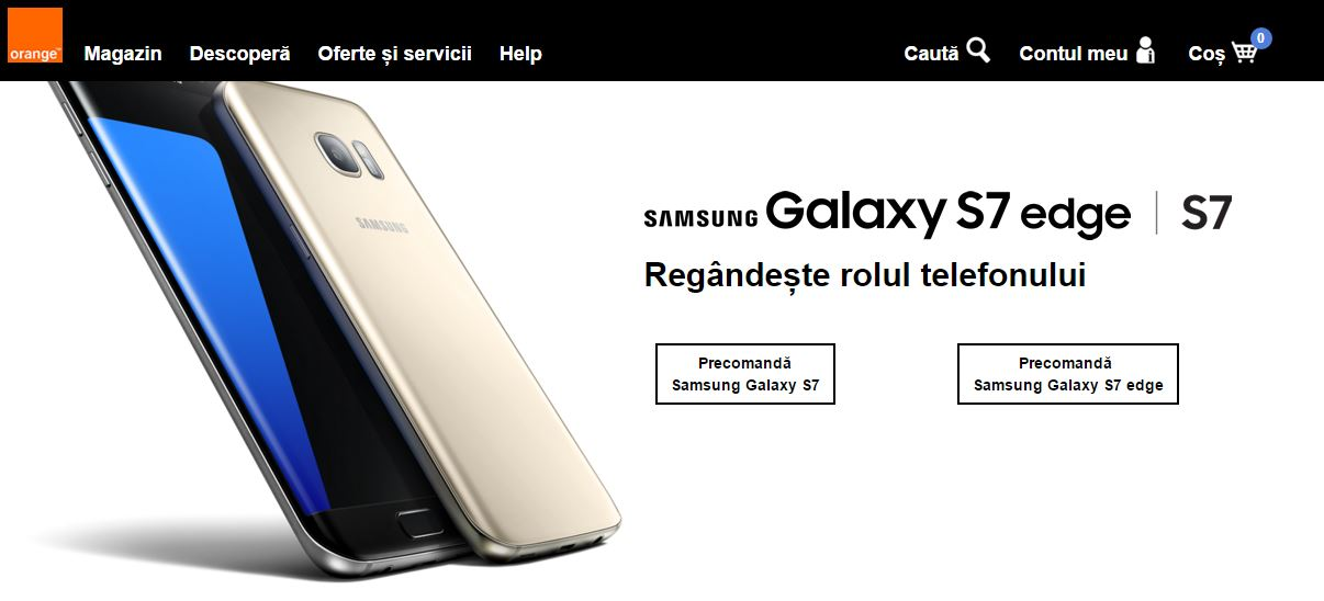 Samsung Galaxy S7 la Orange Romania