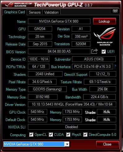 ASUS ROG GX700 GPUZ