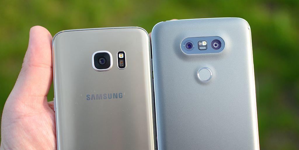 Poze cu Lg G5 si Samsung Galaxy S7 Edge